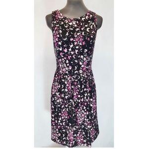 LOFT Black & Pink Floral Dress